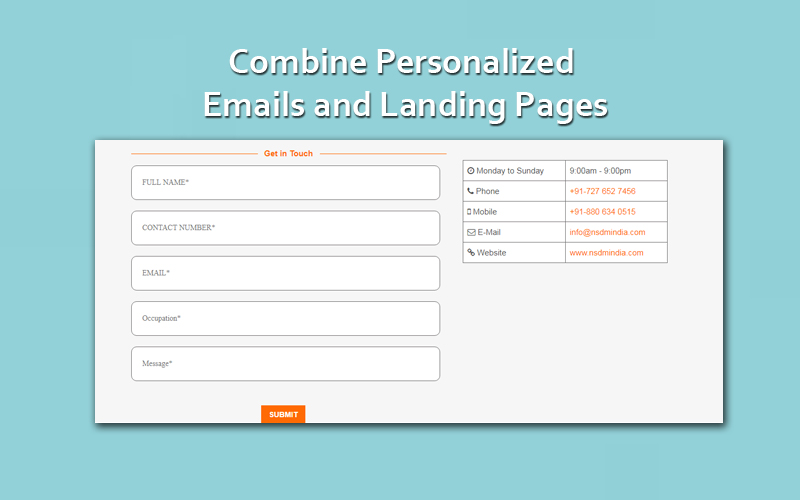 Combine Personalized Emails and Landing Pages