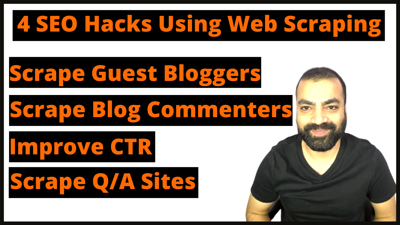 4 SEO Hacks – How To Use Web Scraping For SEO